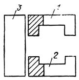 План размещения трех производственных корпусов