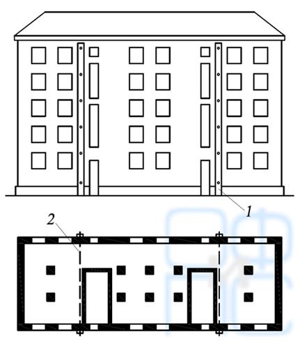 Усиление здания вертикальными накладными поясами